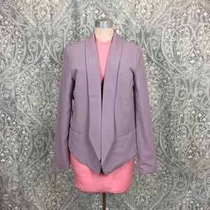 NWOT Forever 21 Contemporary Lilac Pointed Blazer